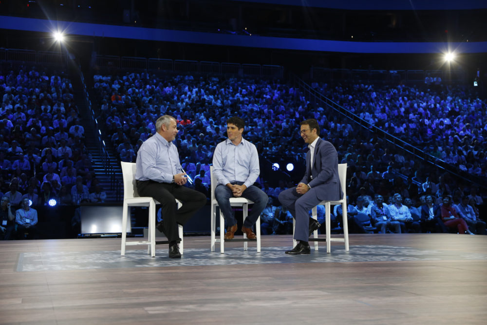 David Penrith, chief engineer at Unilever, Andy Pratt, CEO of The Marsden Group, and Judson Althoff, EVP of Microsoft's Worldwide Commercial Business.